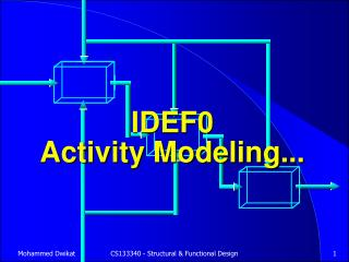 IDEF0 Activity Modeling...