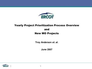 Project Prioritization History