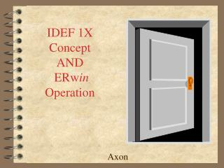 IDEF 1X Concept AND  ERw in  Operation