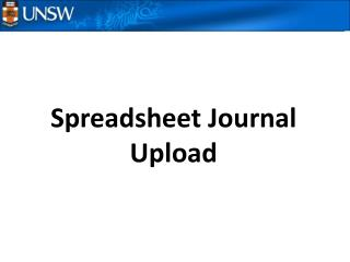 Spreadsheet Journal Upload