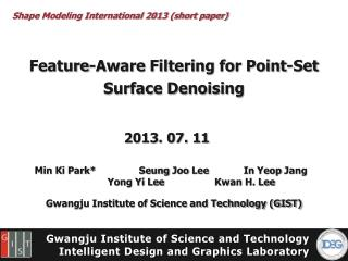 Feature-Aware Filtering for Point-Set Surface Denoising