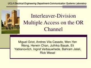 Interleaver-Division Multiple Access on the OR Channel
