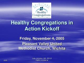 Healthy Congregations in Action Kickoff