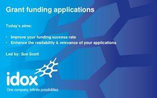Grant funding applications