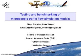 Testing and benchmarking of microscopic traffic flow simulation models