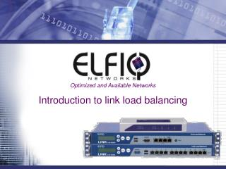 Introduction to link load balancing