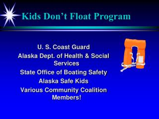 Kids Don't Float Program