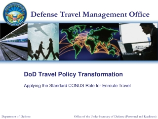 DoD Travel Policy Transformation