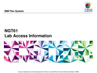 NGT61 Lab Access Information