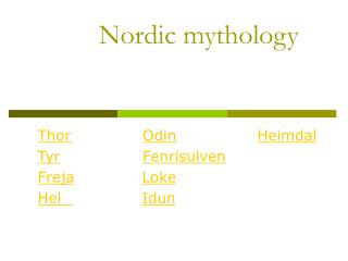 Nordic mythology