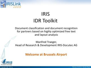 IRIS    IDR Toolkit