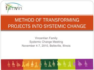 METHOD OF TRANSFORMING PROJECTS INTO SYSTEMIC CHANGE