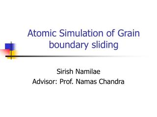 Atomic Simulation of Grain boundary sliding