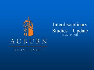 Interdisciplinary Studies—Update October 19, 2010