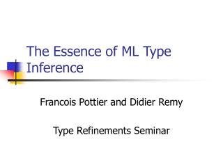 The Essence of ML Type Inference