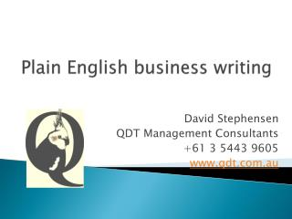 Plain English business writing