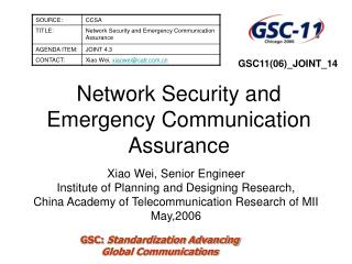 Network Security and Emergency Communication Assurance