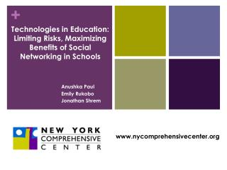 Technologies in Education: Limiting Risks, Maximizing Benefits of Social Networking in Schools