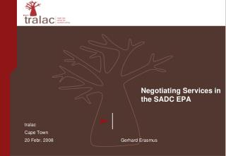 Negotiating Services in the SADC EPA