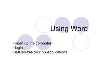 Using Word