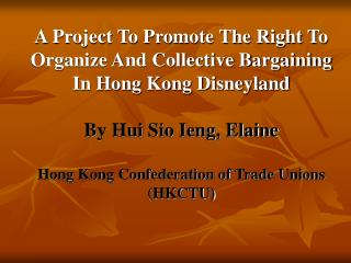 Socio-economic Context in Hong Kong
