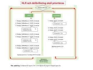 1. Analys, Defibrillera x1, HLR i 2 minuter 2. Analys, Defibrillera x1, HLR i 2 minuter