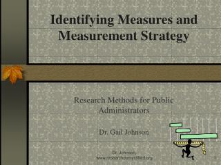 Identifying Measures and Measurement Strategy