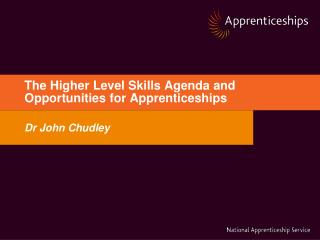 The Higher Level Skills Agenda and Opportunities for Apprenticeships