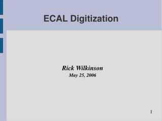 ECAL Digitization