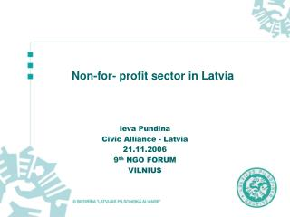 Non-for- profit sector in Latvia