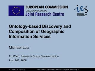 Ontology-based Discovery and Composition of Geographic Information Services