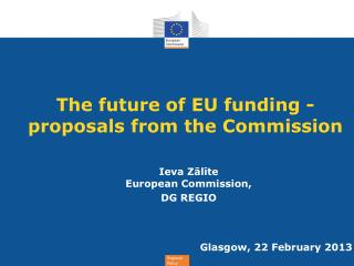 The future of EU funding - proposals from the Commission