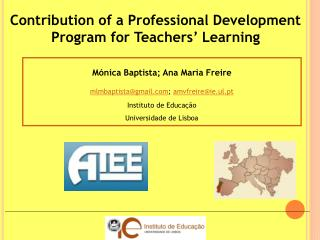 Contribution of a Professional Development Program for Teachers' Learning