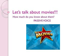 Let's talk about movies !!!