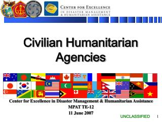 Civilian Humanitarian Agencies