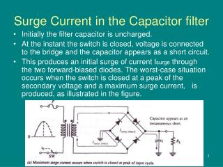 Surge Current in the Capacitor filter
