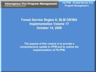 R6 IFPM and FS-FPM Update