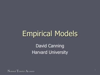 Empirical Models