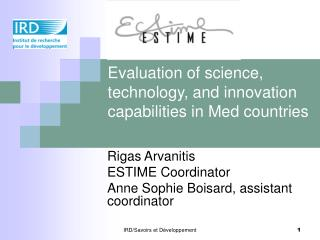 Evaluation of science, technology, and innovation capabilities in Med countries