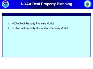 NOAA Real Property Planning