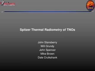 Spitzer Thermal Radiometry of TNOs