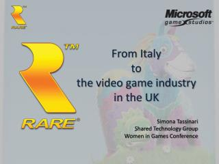 From Italy  to  the video game industry in the UK