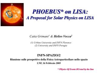 PHOEBUS* on LISA: A Proposal for Solar Physics on LISA