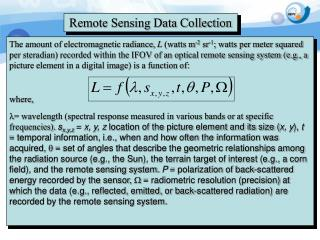 Remote Sensing Data Collection