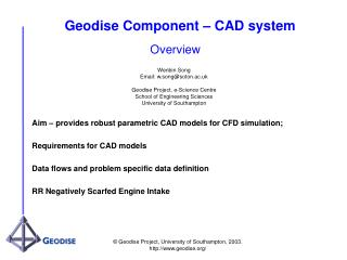 Geodise Component – CAD system