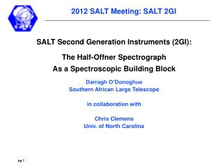 SALT Second Generation Instruments (2GI): The Half-Offner Spectrograph
