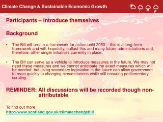 Climate Change & Sustainable Economic Growth