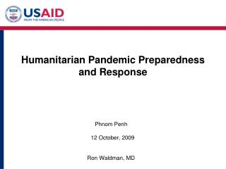 Humanitarian Pandemic Preparedness  and Response