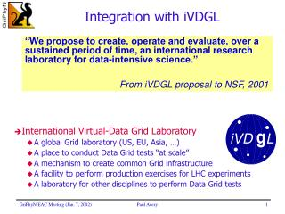 Integration with iVDGL