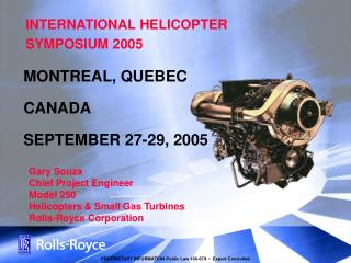 INTERNATIONAL HELICOPTER SYMPOSIUM 2005